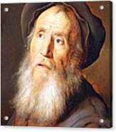 Lievens' Bearded Man With A Beret Acrylic Print