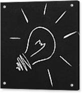 Light Bulb On A Chalkboard Acrylic Print