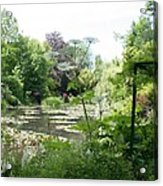 Lily Pond In Monets Garden Acrylic Print