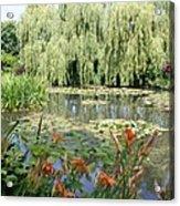 Lily Pond - Monets Garden Acrylic Print