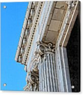 Lincoln County Courthouse Columns Looking Up 02 Acrylic Print