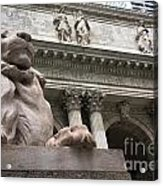 Lion New York Public Library Acrylic Print