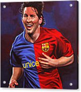 Lionel Messi  Acrylic Print by Paul Meijering