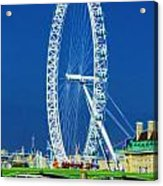 London Eye Westminster Bridge Acrylic Print