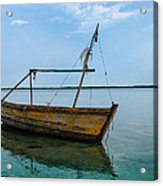 Lonely Boat Acrylic Print by Jean Noren