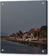 Long Exposure On Beach At Dusk Acrylic Print