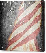 Long May She Wave Acrylic Print