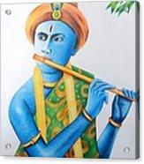 Lord Krishna Acrylic Print by Tanmay Singh