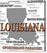Louisiana State Pride Map Silhouette  Acrylic Print