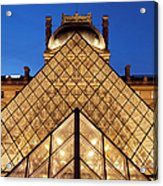 Louvre Pyramid Acrylic Print