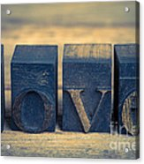 Love In Printing Blocks Acrylic Print