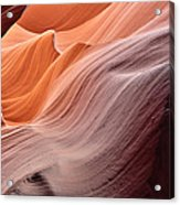 Lower Antelope Canyon Tones And Curves Acrylic Print by Robert Jensen
