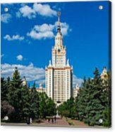 Main Building Of Moscow State University On Sparrow Hills Acrylic Print