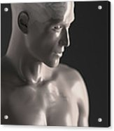 Male Figure With Brain Acrylic Print