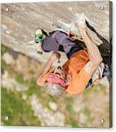 Man Climbing Re Azul, An Historic 7b Acrylic Print