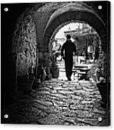Man In An Archway / Hammamet Acrylic Print