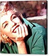 Marilyn Monroe Large Size Portrait Acrylic Print