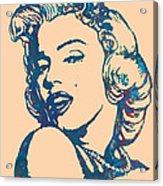 Marilyn Monroe Stylised Pop Art Drawing Sketch Poster Acrylic Print