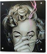 Marilyn's Crimson Haze Acrylic Print