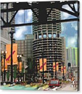 Marina Towers -chicago Acrylic Print