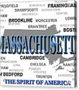 Massachusetts State Pride Map Silhouette  Acrylic Print
