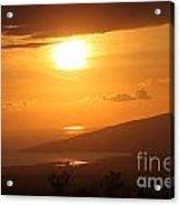 Maui Kulamalu Sunset Acrylic Print