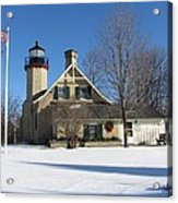 Mcgulpin Point Lighthouse In Winter Acrylic Print