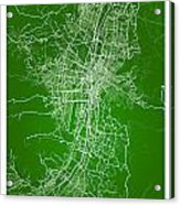 Medellin Street Map - Medellin Colombia Road Map Art On Colored  Acrylic Print