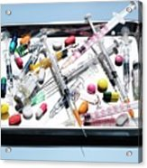 Medical Equipment And Drugs Acrylic Print