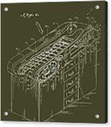 Medical Examining Table Patent 1974 Acrylic Print