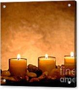 Meditation Candles Acrylic Print
