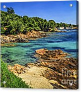 Mediterranean Coast Of French Riviera Acrylic Print by Elena Elisseeva