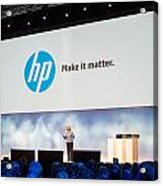 Meg Whitman At Hp Discover 2012 Acrylic Print