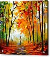 Melody Of Autumn Acrylic Print