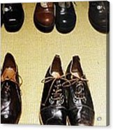 Mens Fine Italian Leather Shoes Acrylic Print