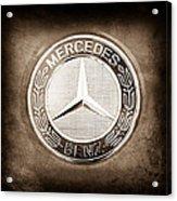 Mercedes-benz 6.3 Amg Gullwing Emblem Acrylic Print