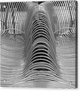 Metal Strips In Black And White Acrylic Print