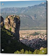 Meteora, Thessaly, Greece. The Eastern Acrylic Print