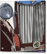 Mg Grille Abstract Acrylic Print