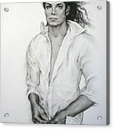 Michael Jackson Acrylic Print by Guillaume Bruno