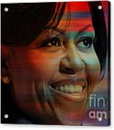 Michelle Obama Acrylic Print by Marvin Blaine