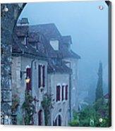 Misty Dawn In Saint Cirq Lapopie Acrylic Print