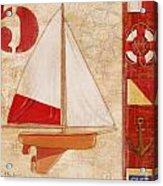 Model Yacht Collage II Acrylic Print by Paul Brent