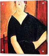 Modigliani's Madame Amedee -- Woman With Cigarette Acrylic Print