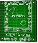 Monopoly Patent 1935 - Green Acrylic Print