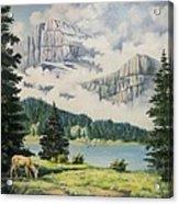 Morning At The Glacier Acrylic Print