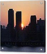 Morning On The Hudson Acrylic Print