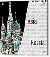 Moscow At Night Acrylic Print