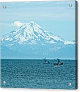 Mount Redoubt Across Cook Inlet From Ninilchik-ak   Acrylic Print