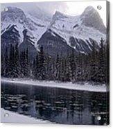 Mountain Sunset Christmas Canmore, Alberta Acrylic Print